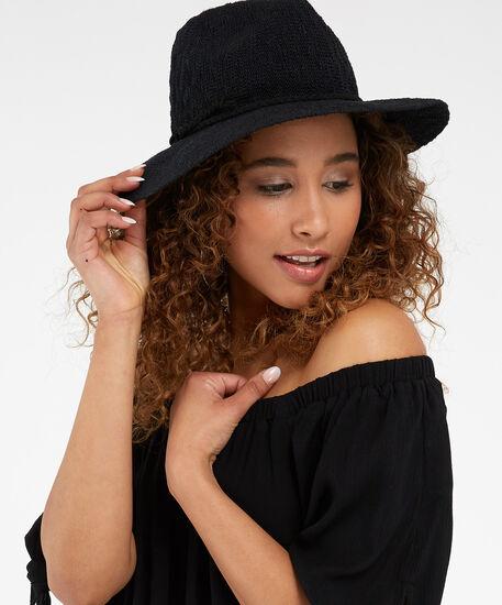 panama hat, BLACK, hi-res