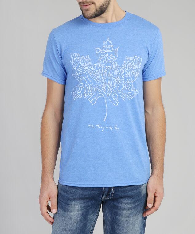 tragically hip maple leaf tee, BLUE HEATHER, hi-res