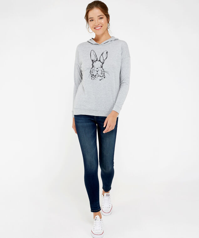 rabbit hoody, GREY, hi-res