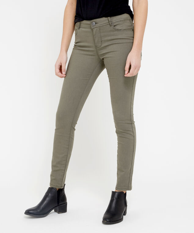 skinny ankle colour olive, , hi-res