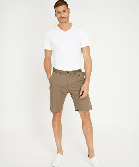 cotton canvas belted short - wb, TARMAC, hi-res