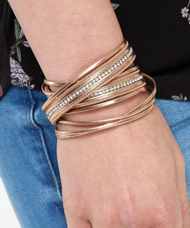multi layer bracelet, BROWN, hi-res