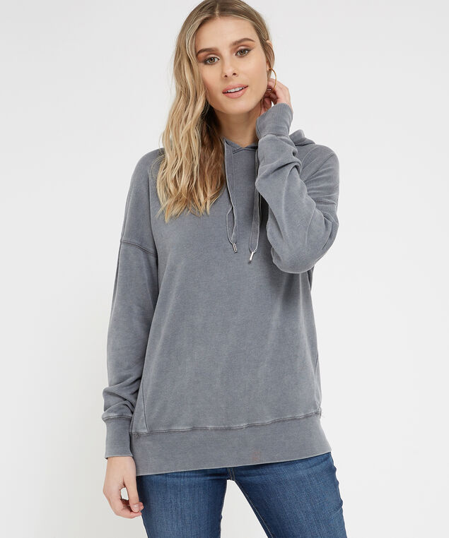 tunic length hoodie - wb, GREY MIX, hi-res