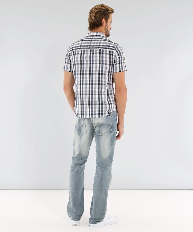 plaid shirt with pockets - wb, WHITE/NAVY, hi-res