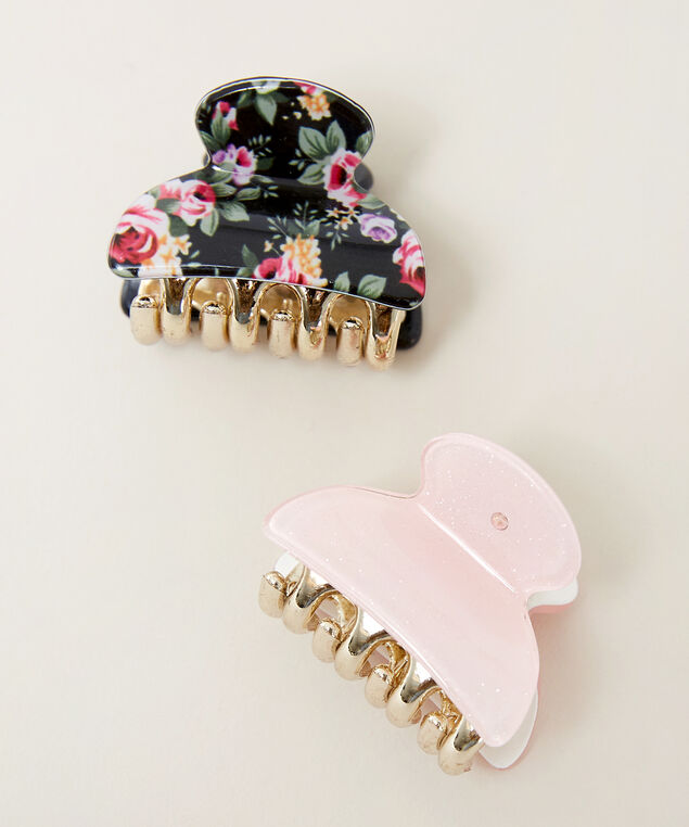 2 pack hair clips, Pink, hi-res