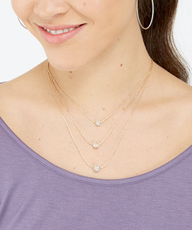 multi strand necklace, Gold, hi-res