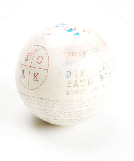 birthday cake bath bomb, White, hi-res