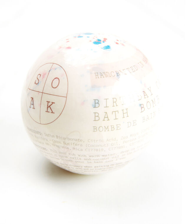 birthday cake bath bomb, White