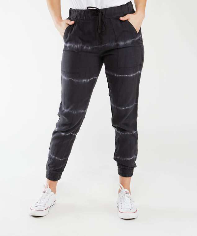 tie-dyed pull-on tencel jogger,