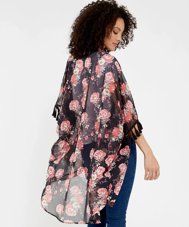 floral kimono, BLACK FLORAL, hi-res