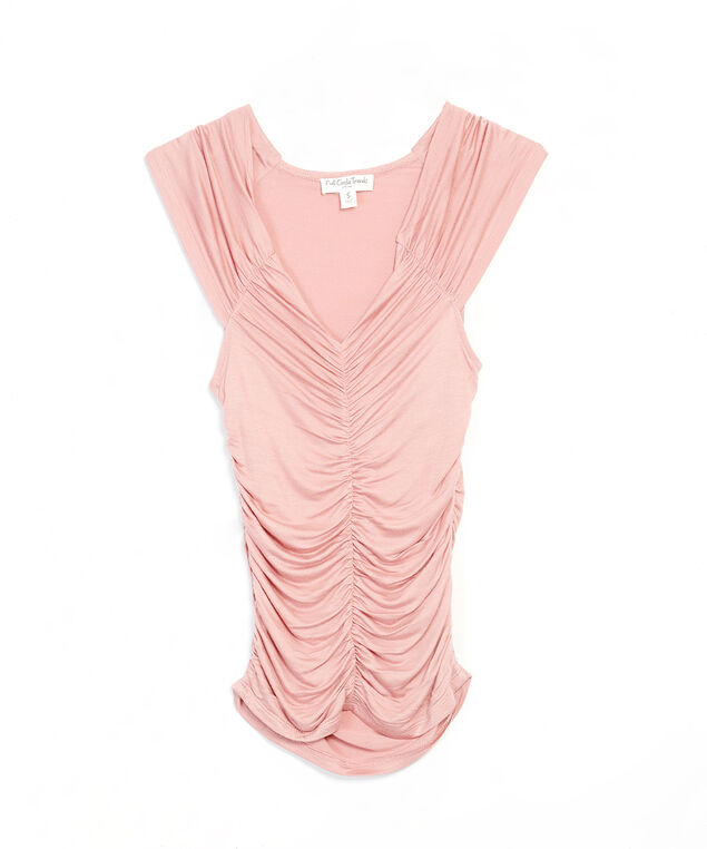 ruched top - wb, Pink, hi-res