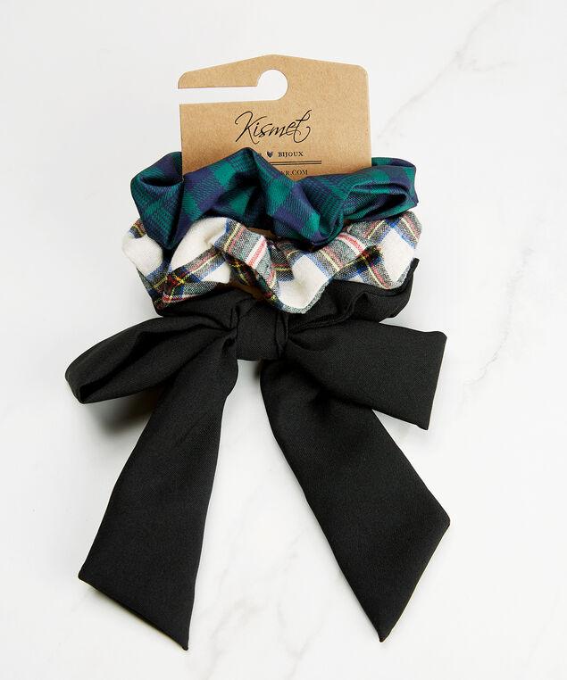 Set of 3 hair scrunchies, Dk Blue, hi-res