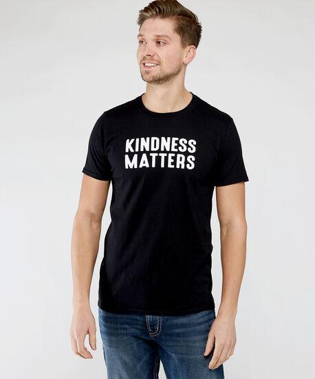 kindness matters tee, Black, hi-res