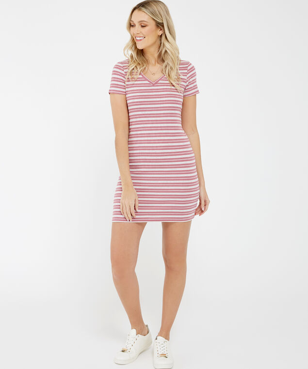 t-shirt dress - wb, Stripe, hi-res