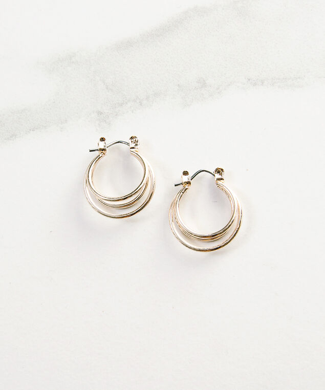 double loop cuff earring, Rose, hi-res