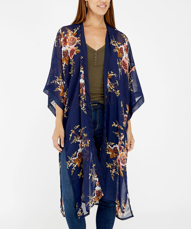 floral kimono black, BLACK PATTERN, hi-res