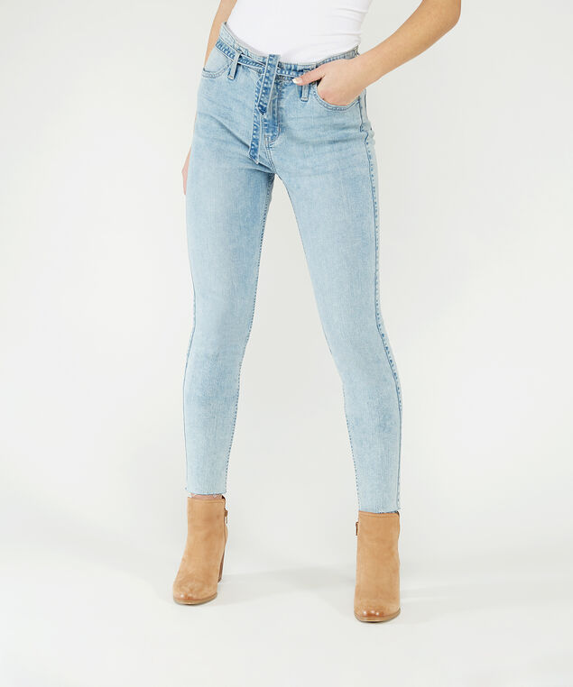 high rise skinny ankle with tie belt,