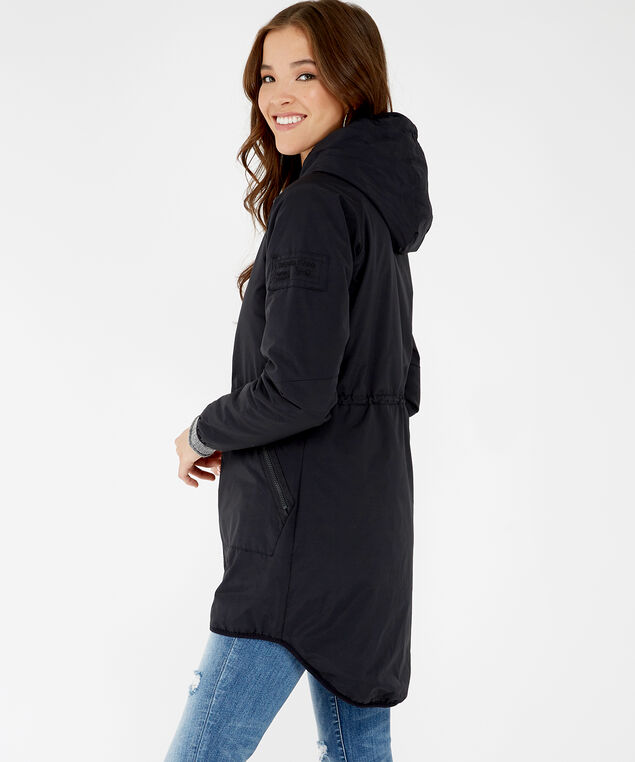 lightweight parka, Black, hi-res