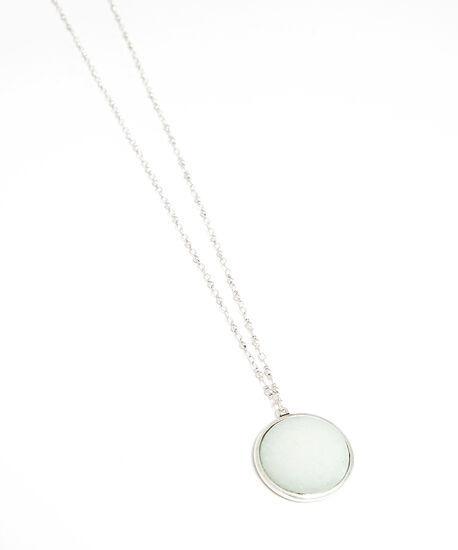 stone pendant necklace, Silver, hi-res
