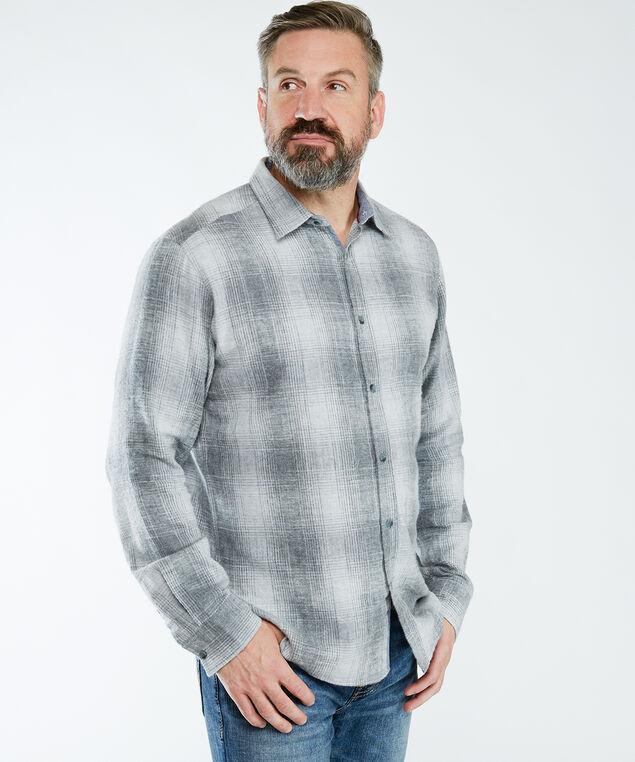 Long Sleeve Plaid Shirt, Grey Plaid