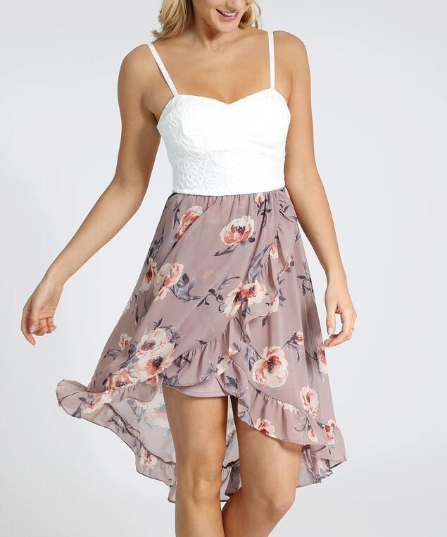 floral skirt dress - wb, MAUVE FLORAL, hi-res