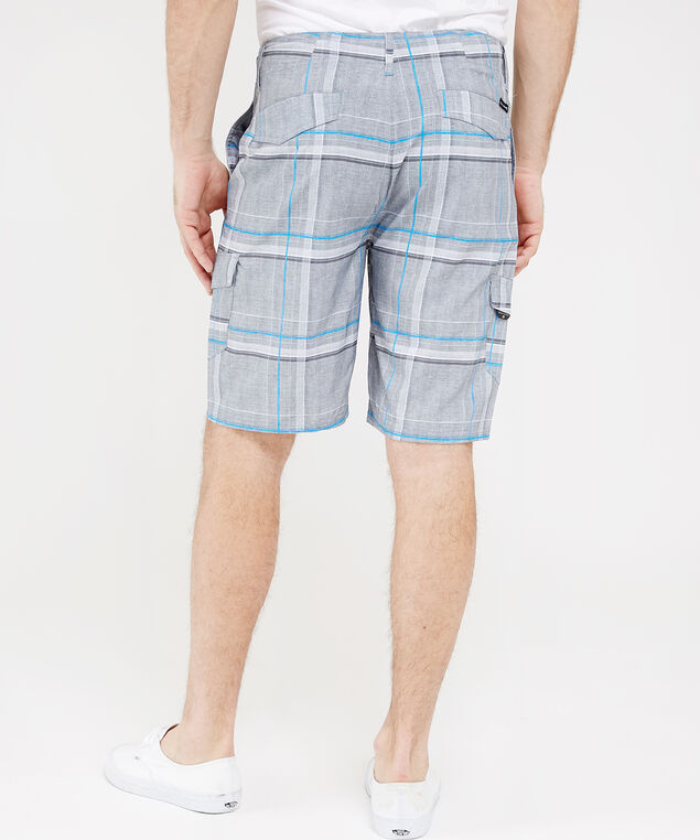 troyer plaid cargo hybrid short, DOLPHIN, hi-res