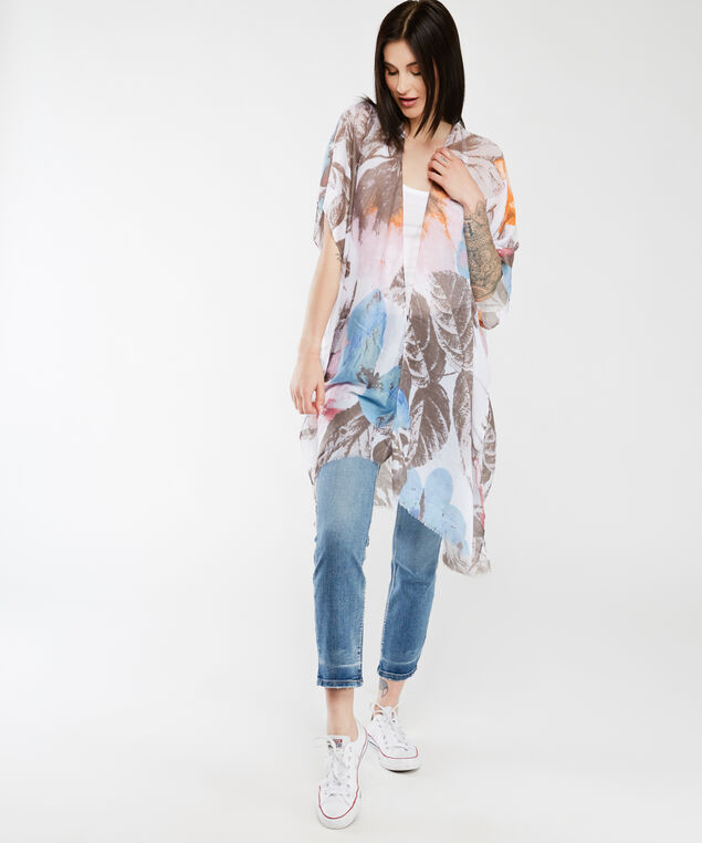 muted butterfly kimono, Floral