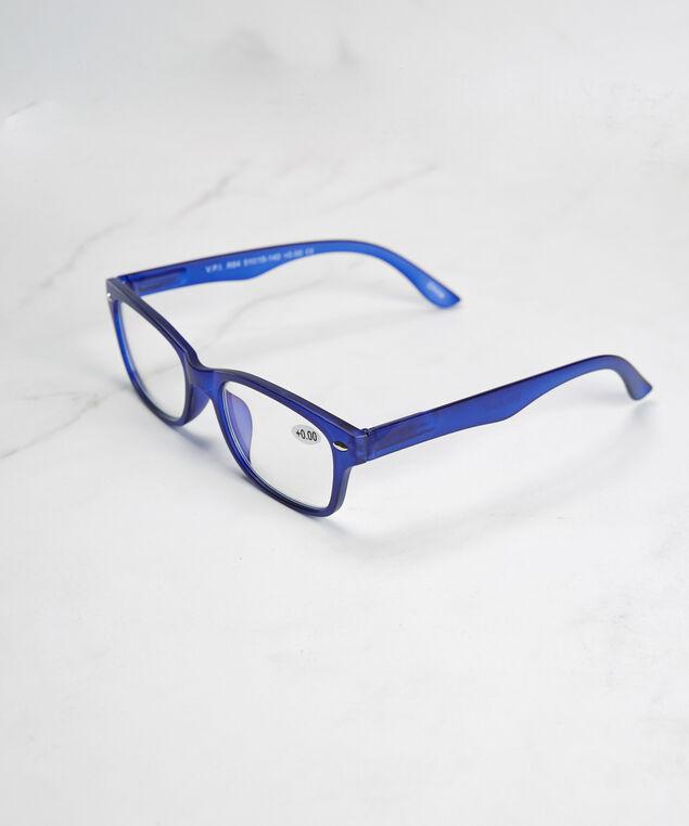 blue frame blue light protection glasses, Blue