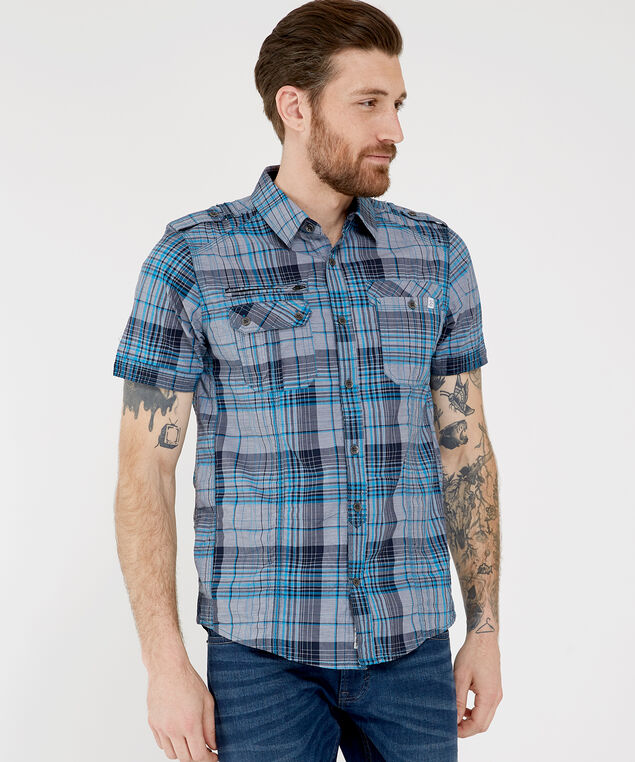blais shirt sp19, NAVY, hi-res