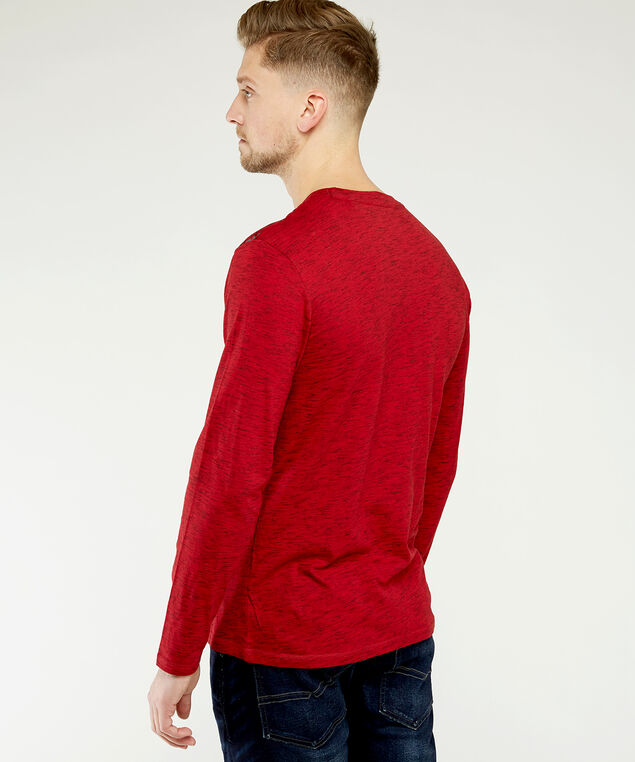 long sleeve graphic tee, Red