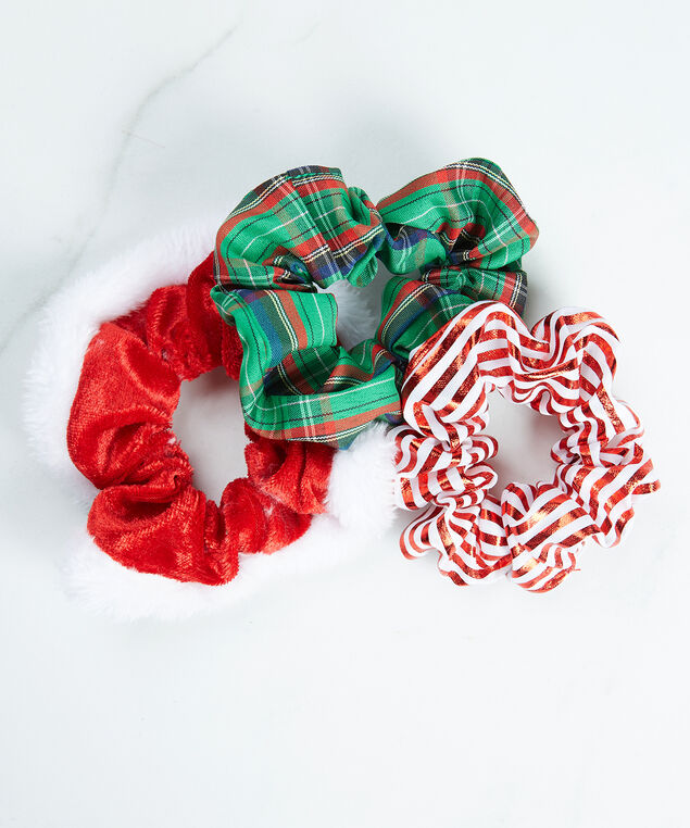 holiday scrunchies, Red/Green