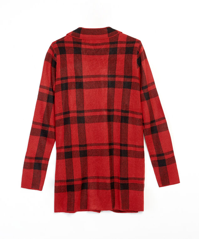 sweater knit blazer - wb, red, hi-res