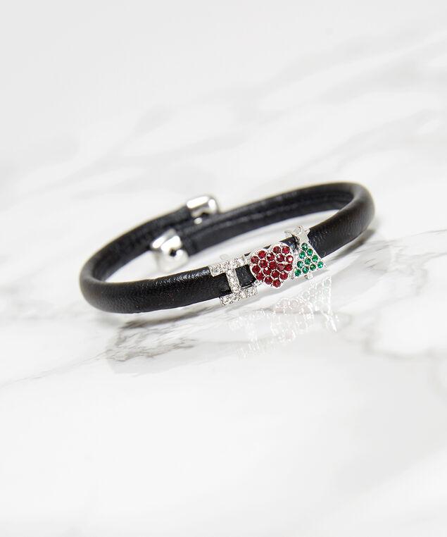 christmas cuff bracelet, BLACK, hi-res
