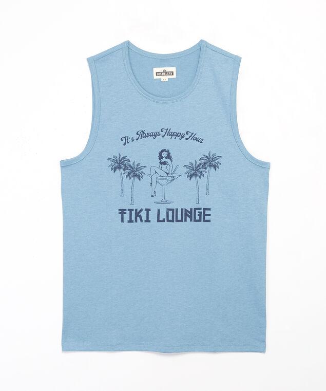 tiki lounge, Dusty blue, hi-res
