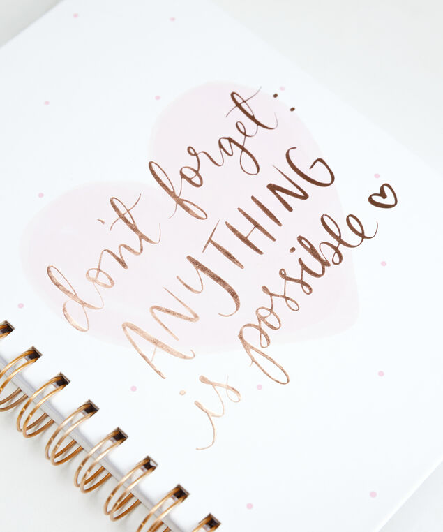 anything is possible notebook, White Pink