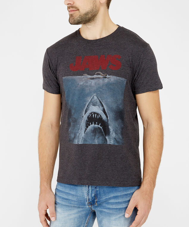jaws graphic tee, Grey, hi-res