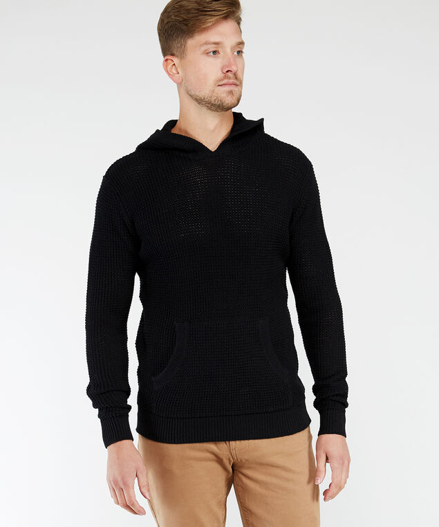 hooded sweater, Black, hi-res