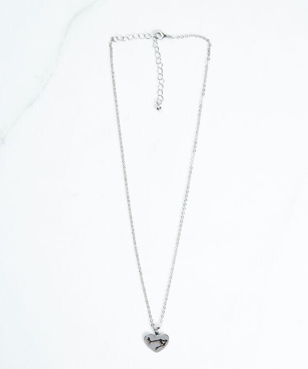 libra zodiac necklace, Silver