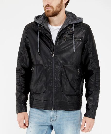 motorcycle jacket, Black, hi-res
