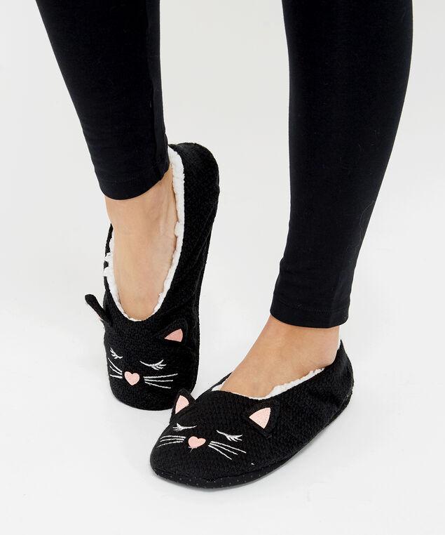 cat slipper sock, Black Cat, hi-res