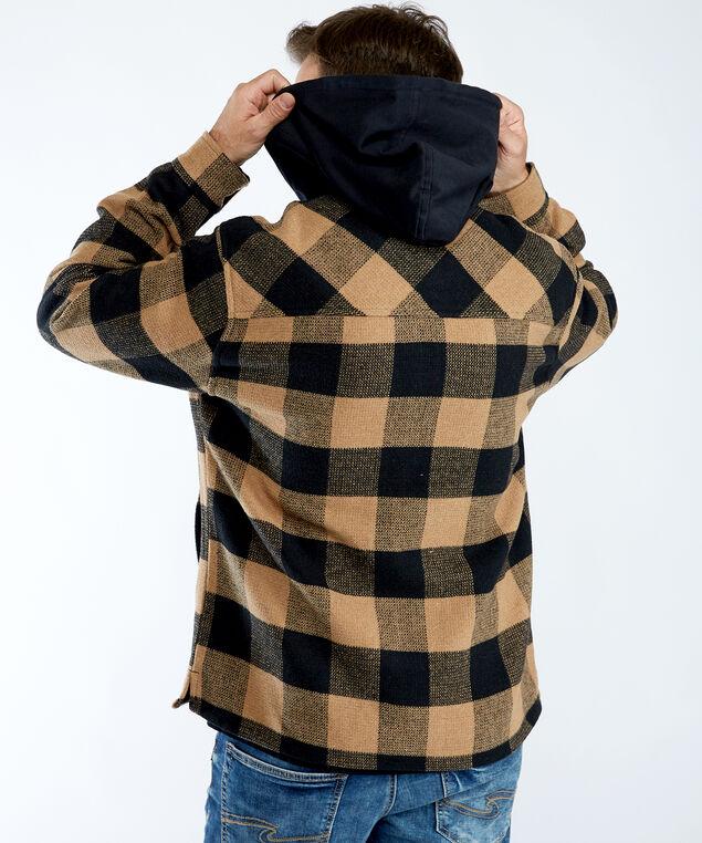 plaid jacket, Copper/Black