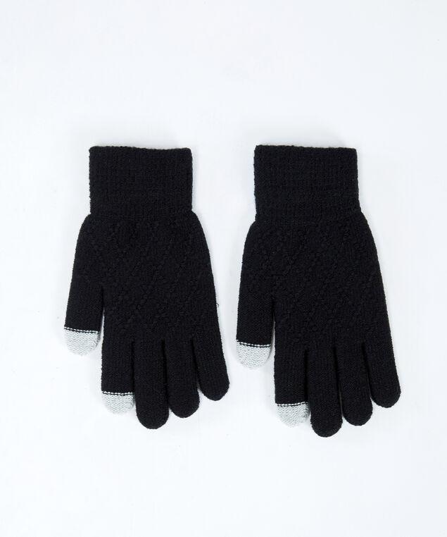 texting glove, Black