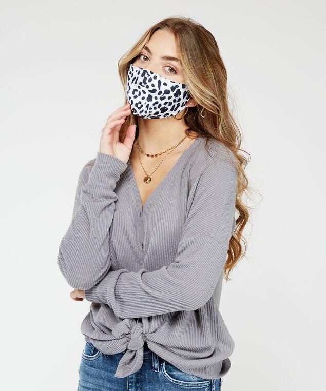 leopard print face mask, Leopard