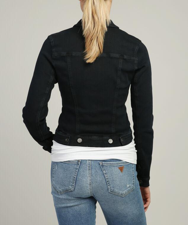 samantha midnight indigo fleece denim jacket, DSW, hi-res