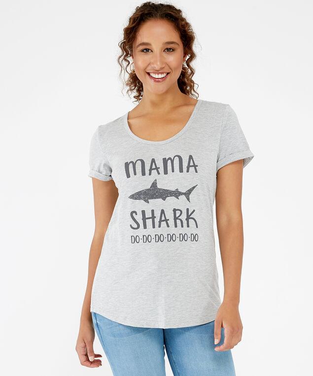 mama shark tee, Grey, hi-res