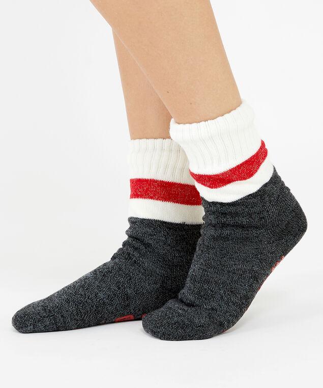 read me slipper socks, Wine, hi-res