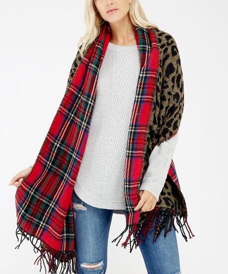 plaid blanket scarf, Plaid, hi-res