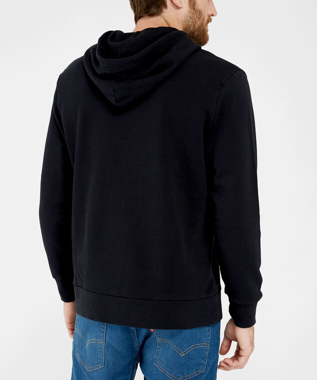 graphic pullover hoodie - wb, BLACK, hi-res