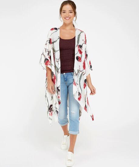 floral kimono, IVORY COBO, hi-res