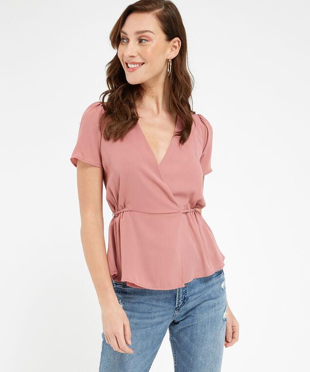 wrap blouse - wb, DUSTY ROSE, hi-res
